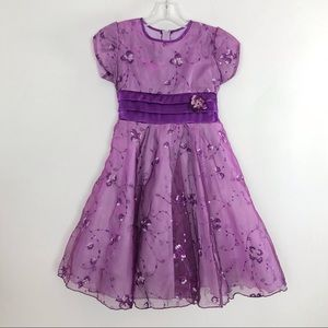 Embroidery & Sequin Party Dress